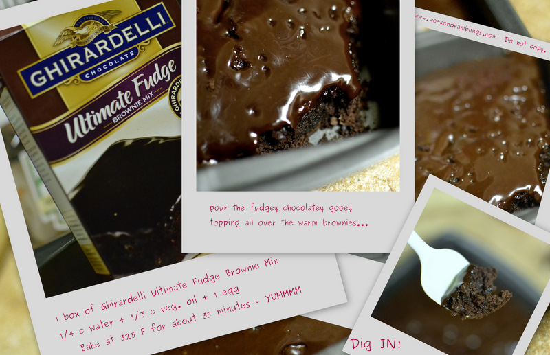 ghirardelli Ultimate Fudge brownie mix boxed cake baking bake easy fun weekend idea cooking