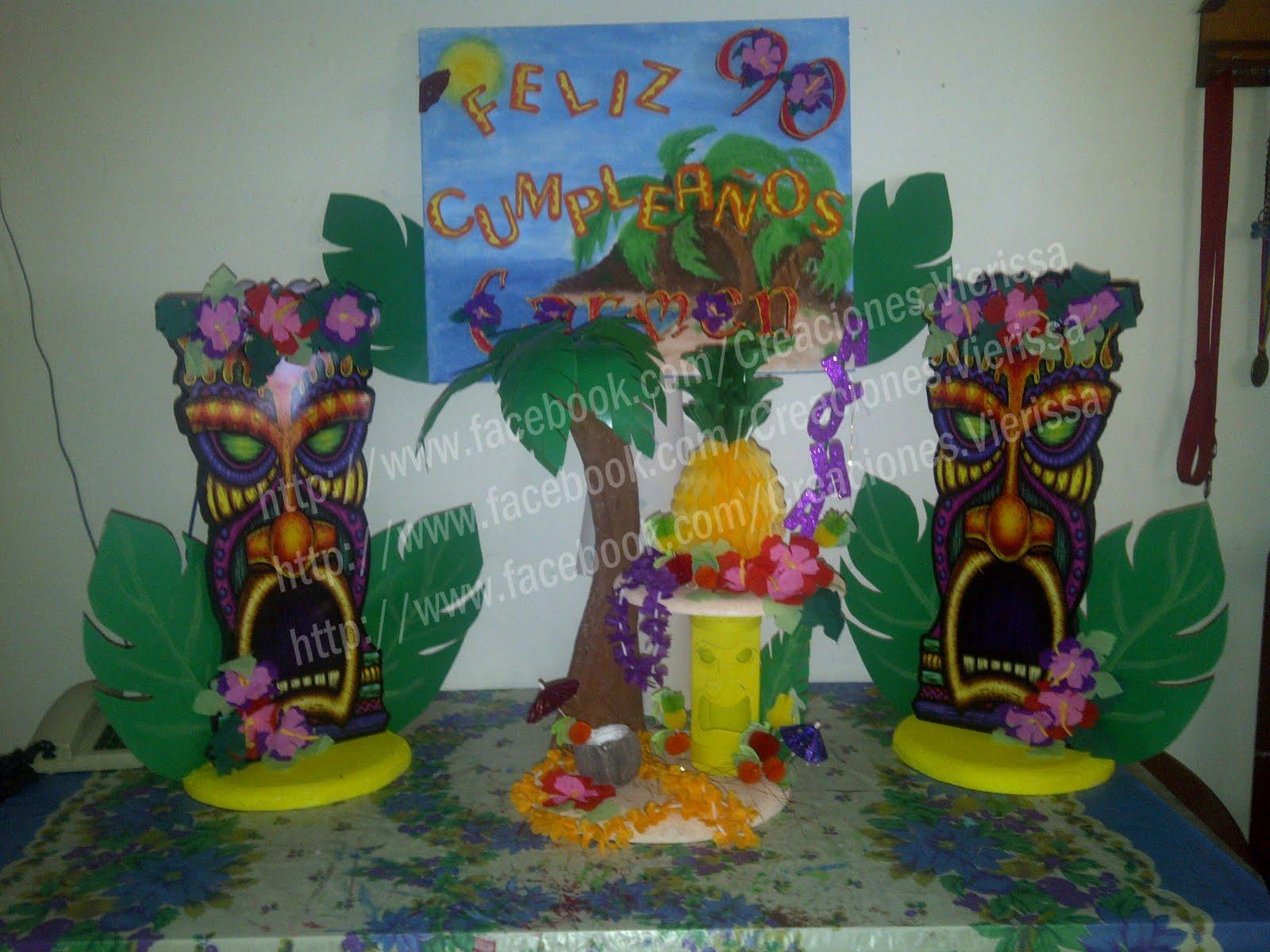 Decoracion Hawaiana En Globos ~ Pi?atas CREACIONES VIERISSA Fiesta Hawaiana, Luau!!!