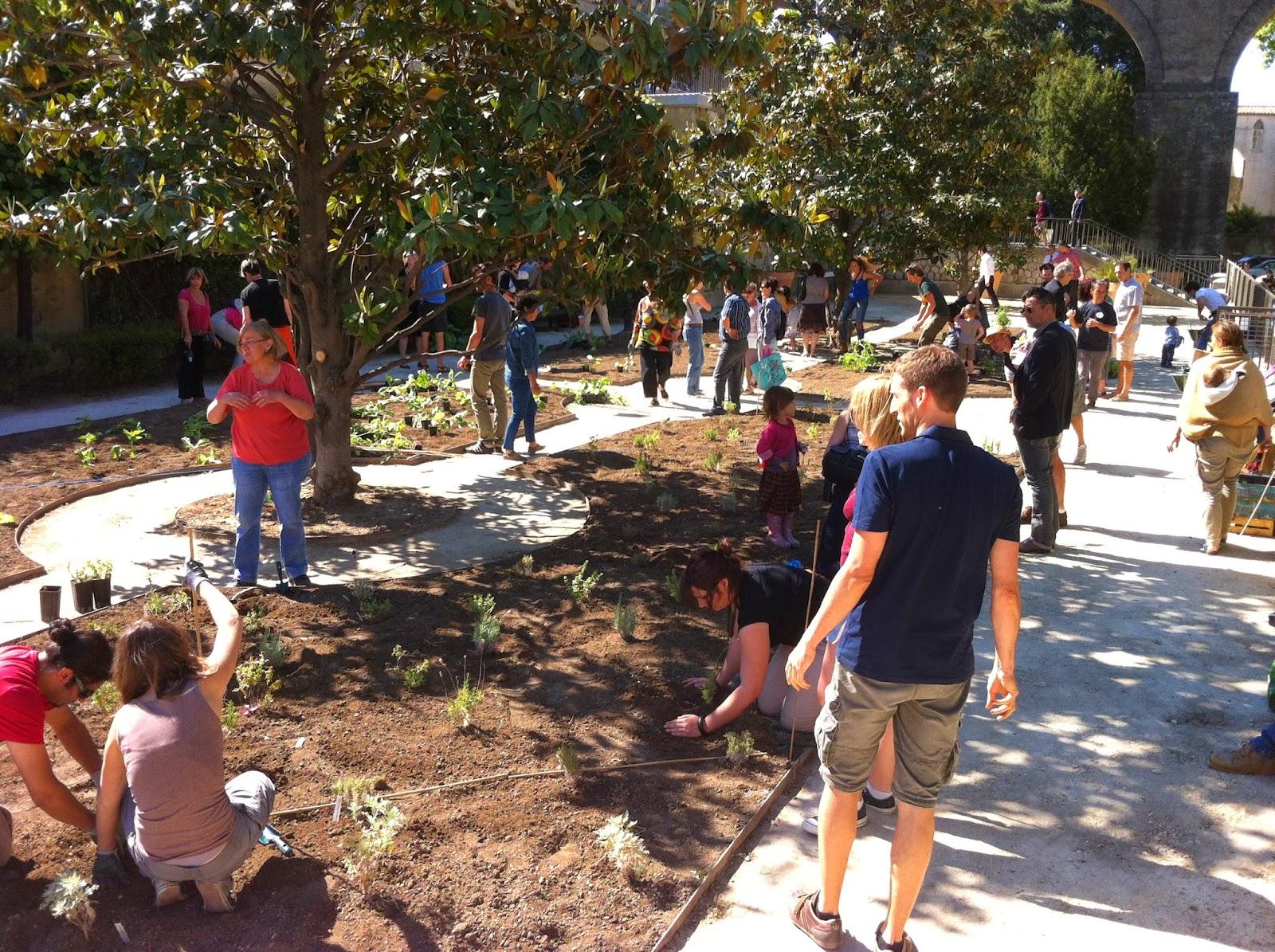Les jardins solidaires et durables de montpellier projet for Arceaux de jardin
