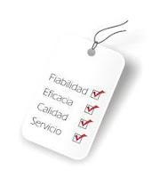 fiabilidad, eficacia, calidad, servicio
