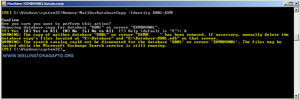 Mailbox server cannot be removed from the database availability group because mailbox database has multiple copies.