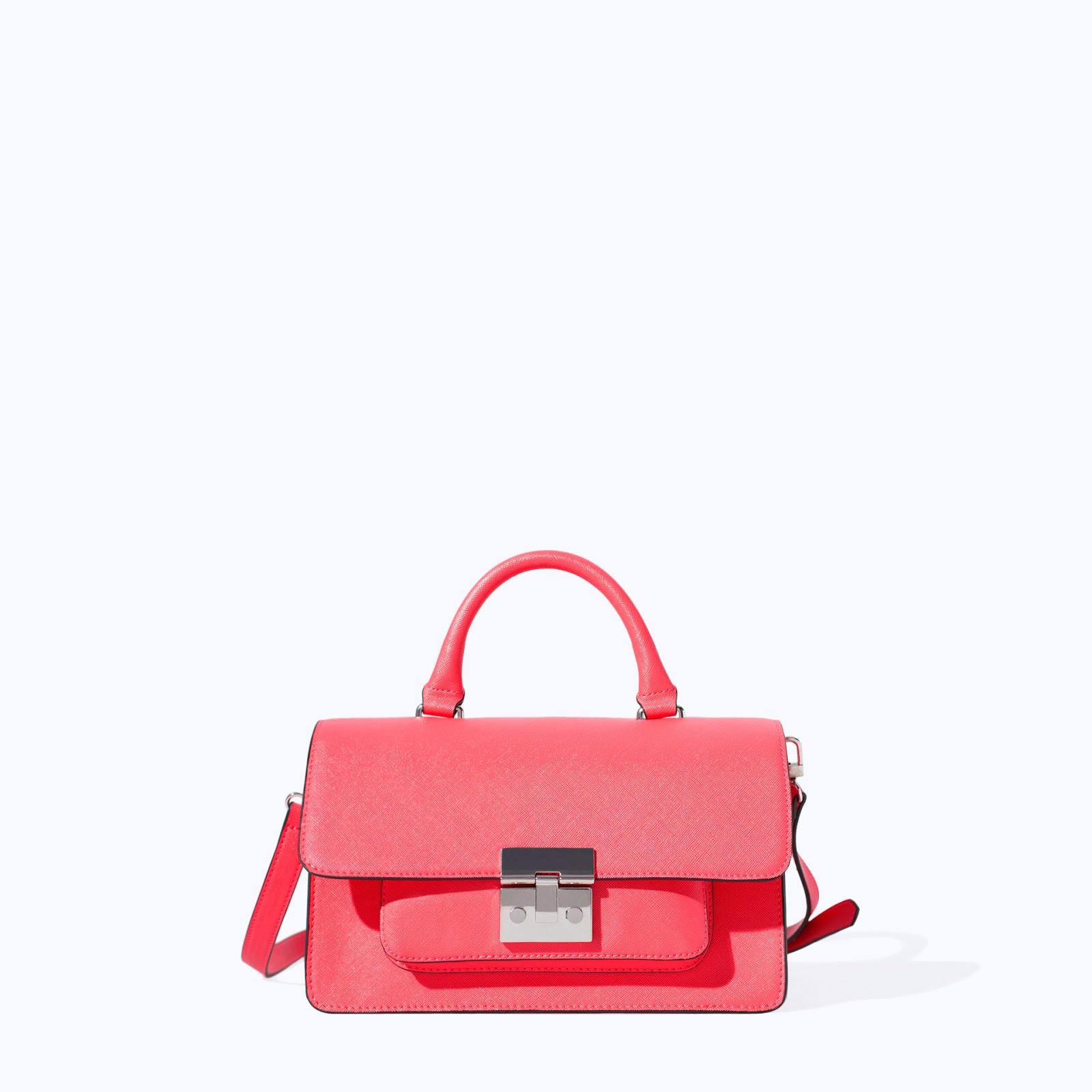 zara pink handbag