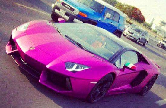 Luxur Blog Lamborghini Aventador Colored Purple In Dubai Video
