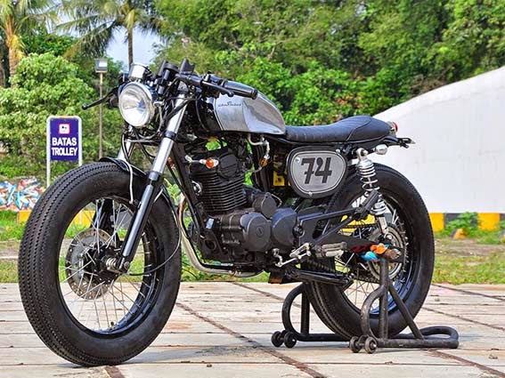 MODIFIKASI HONDA TIGER (GL200) CAFE RACER : THE NOOKIE BASTARD