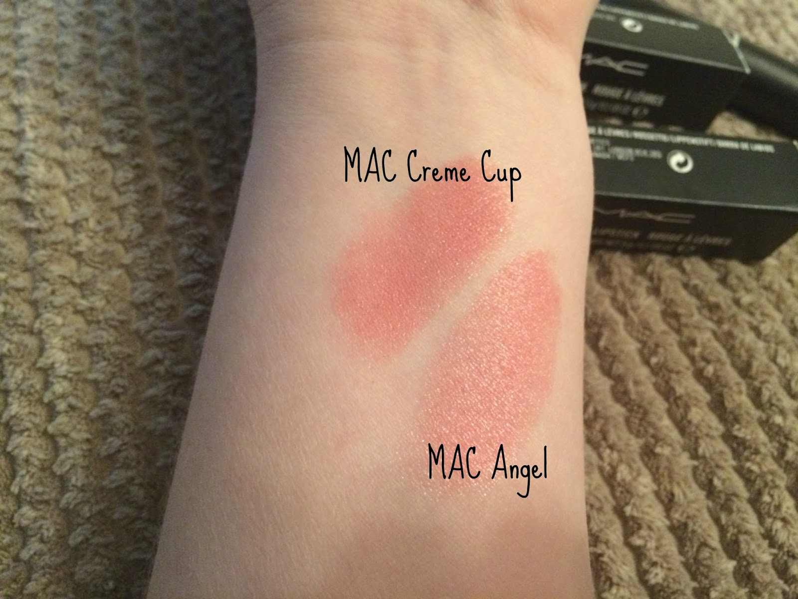 beautyqueenuk: M.A.C Frost Lipstick - Angel Review