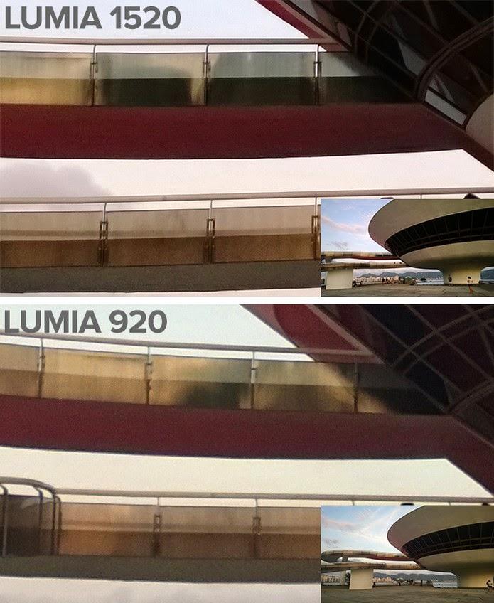 Lumia 1520 possui resultados melhores e mais nítidos com Zoom em comparação ao irmão Lumia 920