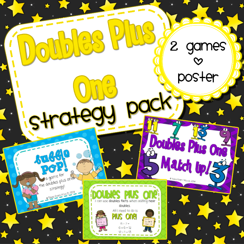 http://www.teacherspayteachers.com/Product/Doubles-Plus-One-Strategy-Pack-1251155