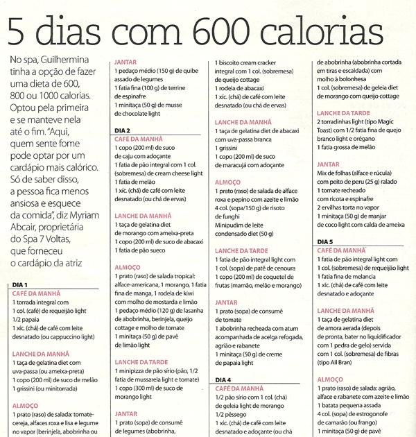 Amado Dieta 5 dias com 600 Kcal. - Nós Fitness KO49