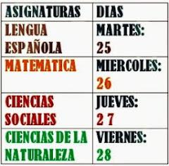 HORARIO DE PRUEBAS NACIONALES