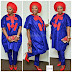 Aso Ebi Style:  Red and Blue Styles Combinations