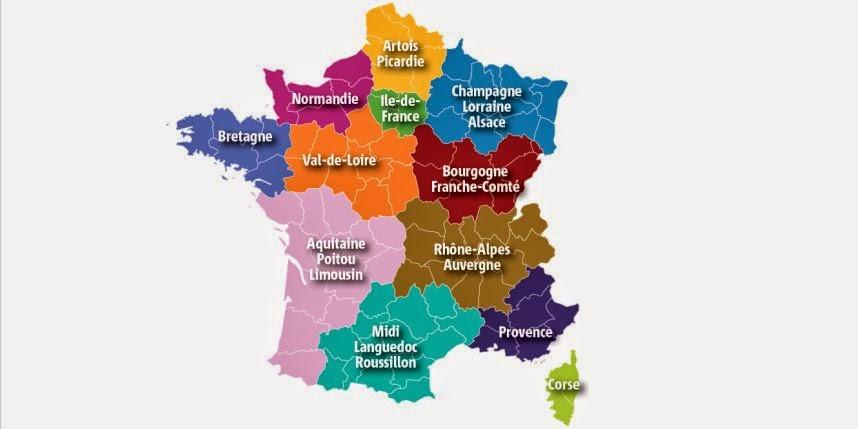 Voilà à quoi devraient ressembler les douze nouvelles régions.