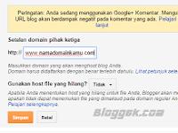 Baru cara custom domain Blogspot di Idwebhost