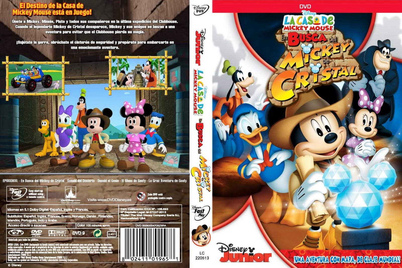 Elcineensusmanos la casa mickey mouse en busca del mickey de cristal infantil - Youtube casa mickey mouse ...