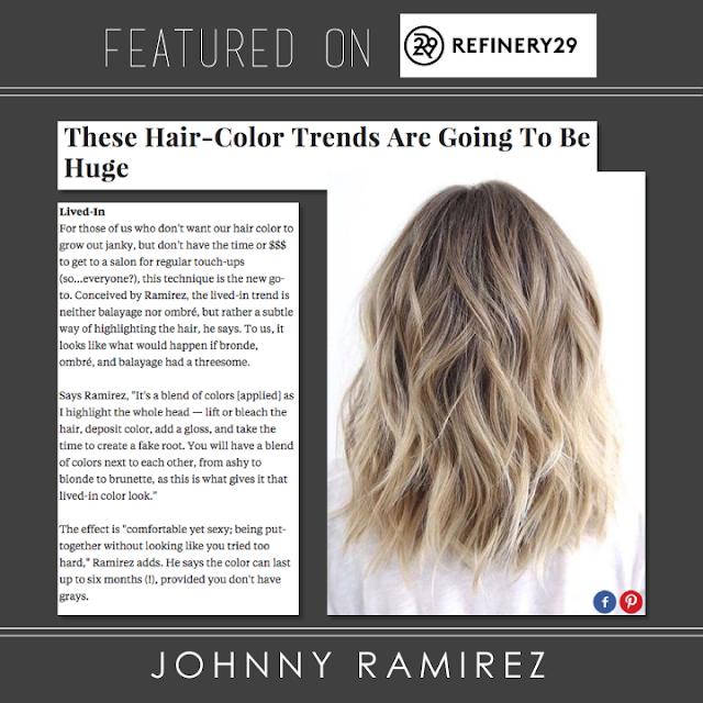 #JOHNNYRAMIREZHAIR, hair color trends, haircolor, Refinery29,