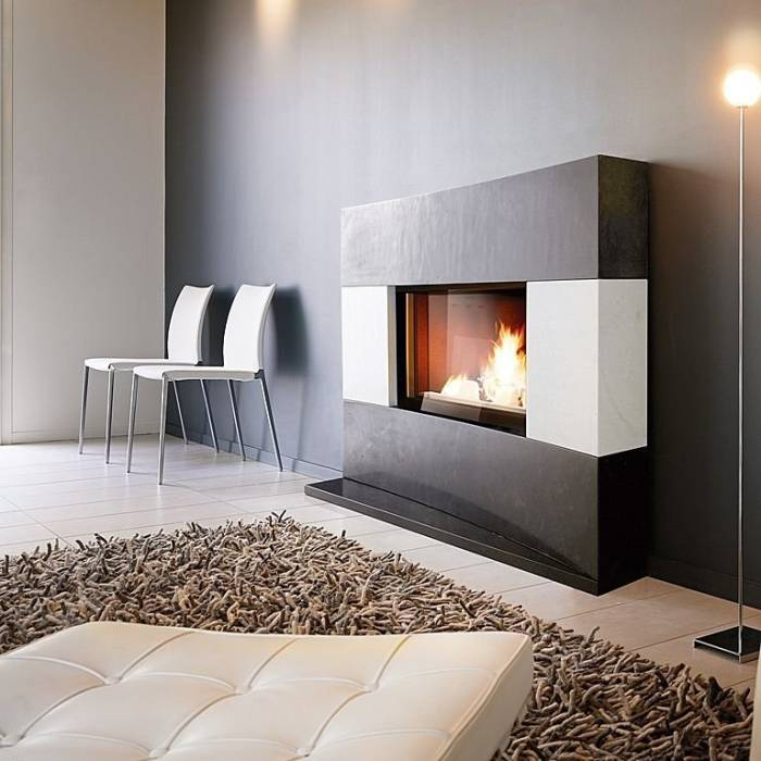 Decoraci n minimalista y contempor nea elegantes - Chimeneas artificiales decorativas ...