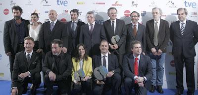 Fotografía de los galardonados en los Premios José María Forqué