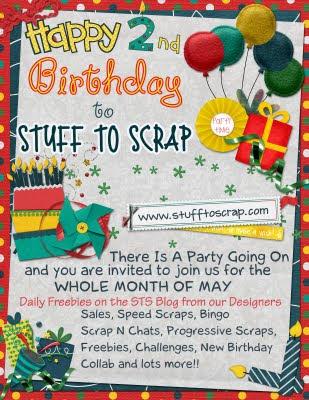 happy birthday gift scraps. Stuff To Scrap Birthday Bash