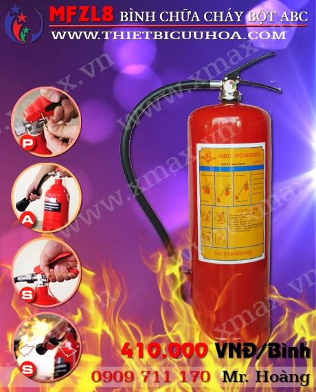 Bình cứu hỏa bột abc mfzl8 8kg