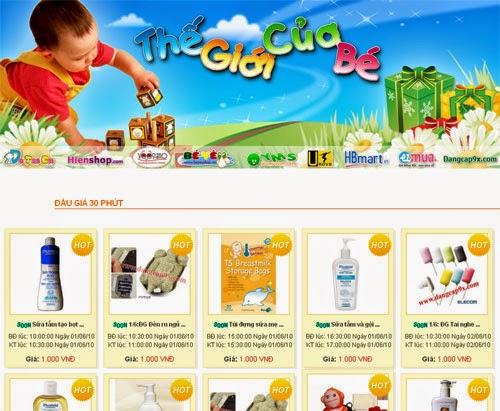 thiết kế website đồ mẹ và bé