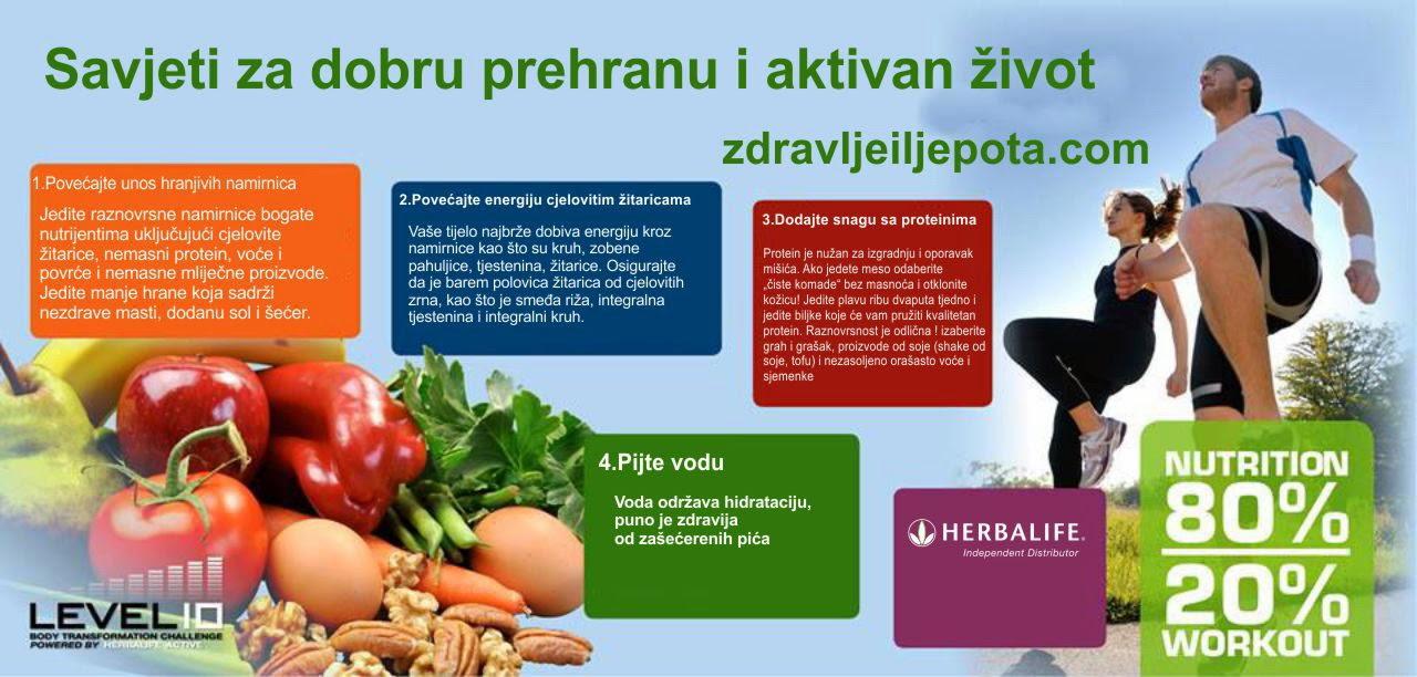 savjeti za dobru prehranu i aktivan život
