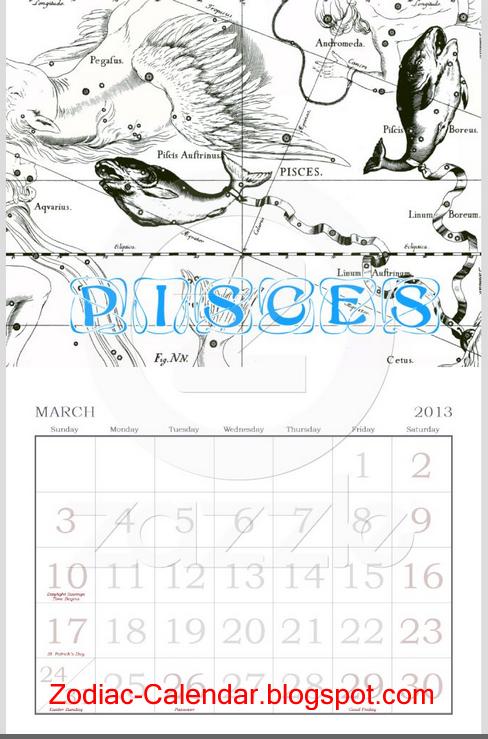 Virgo Calendar May : Zodiac calendar