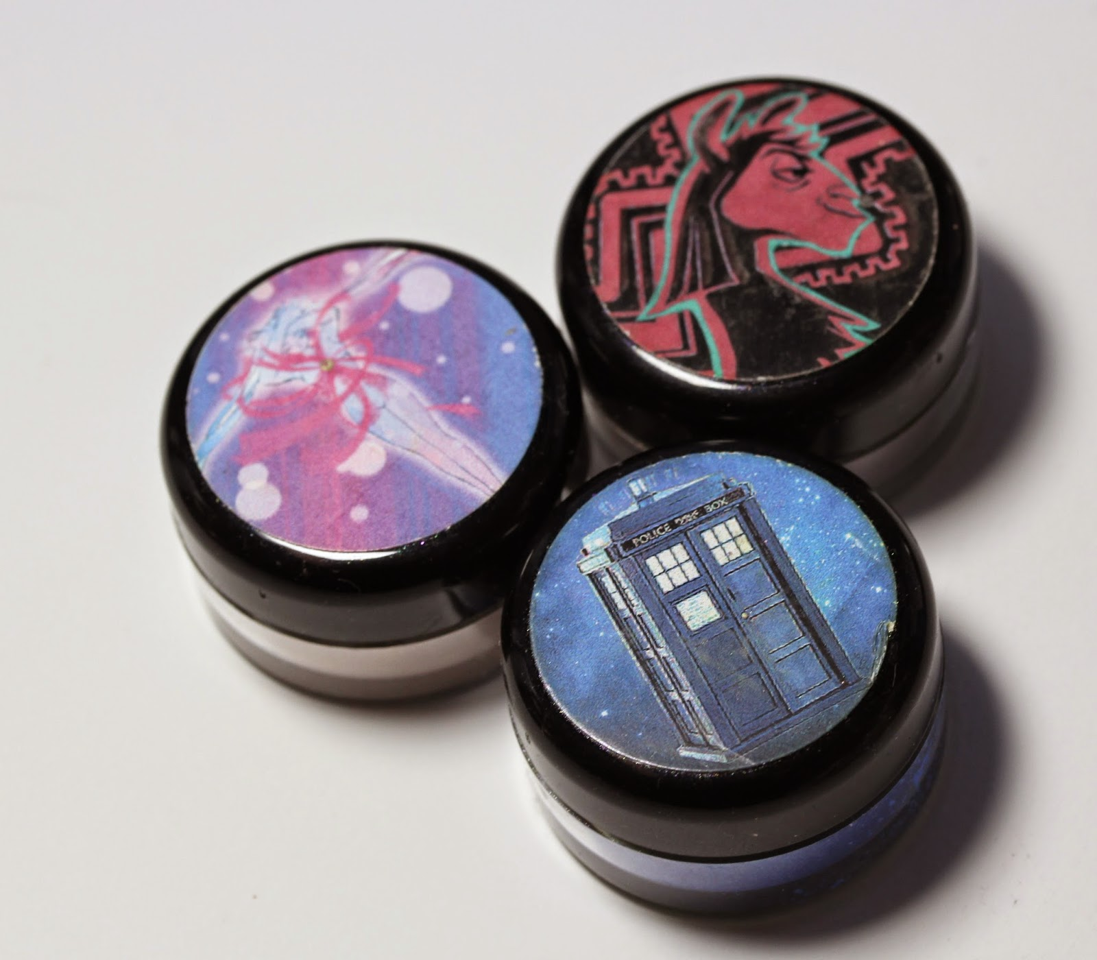 Shiro: Moon Prism Powder, Yzma's Essence of Llama, Tardis