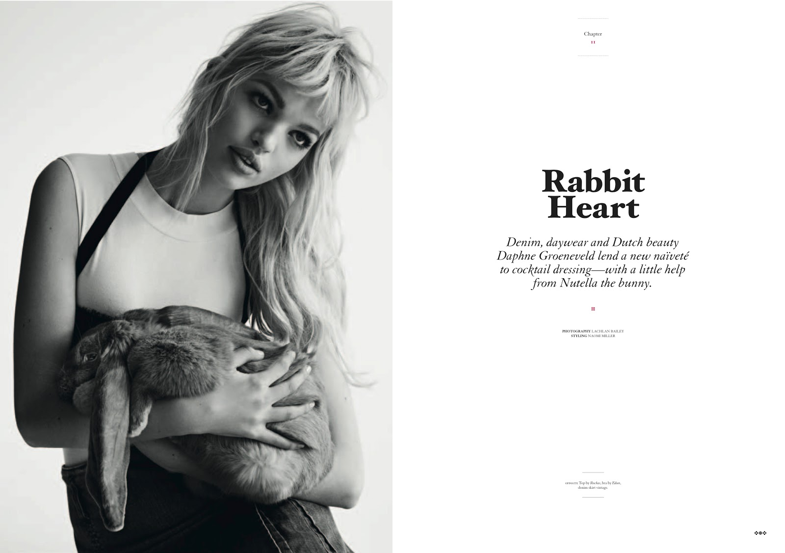 Rabbit heart daphne groeneveld by lachlan bailey for twin magazine 8
