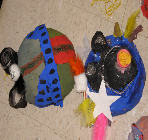 Bright and Shiny Art: African Art: Paper Mache Balloon Masks
