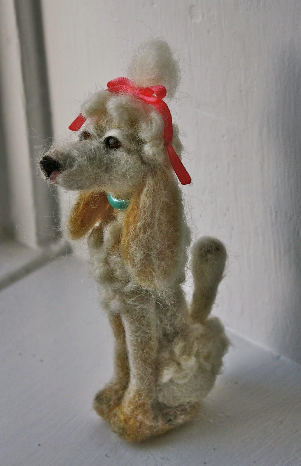 felted dog - poodle