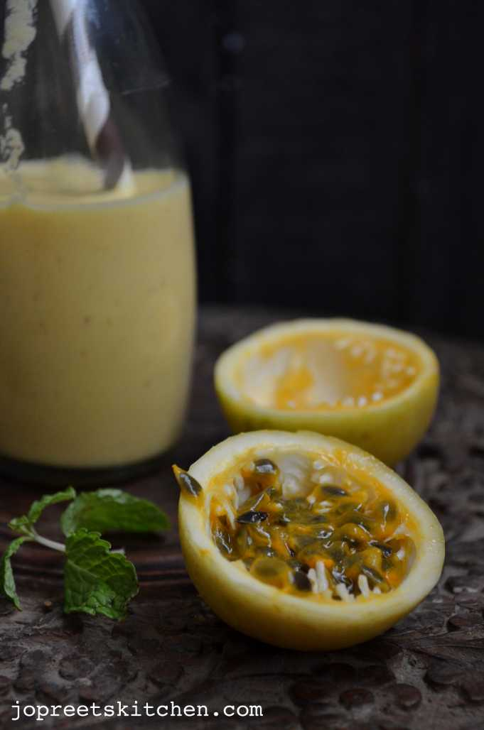 Mango & Passion Fruit Lassi | Jopreetskitchen