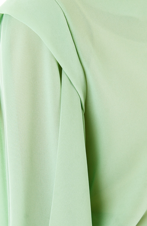 Piper Origami Sleeve Blouse - Aloe Green