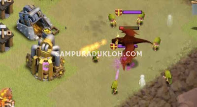 Cara Memancing Naga di Clan Castle War COC