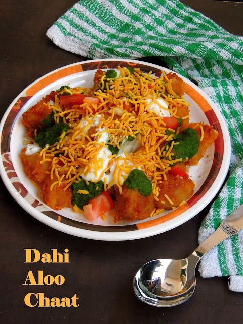 Aloo curd chaat, dahi potato chaat