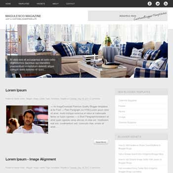 Magulesco Magazine blog template. template image slider blog. magazine blogger template style. wordpress them to blogger template