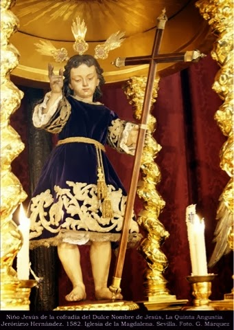 Niño Jesús de la cofradía del Dulce Nombre de Jesús, La Quinta Angustia. Jerónimo Hernández. 1582. Iglesia de la Magdalena. Sevilla. Foto. G. Márquez