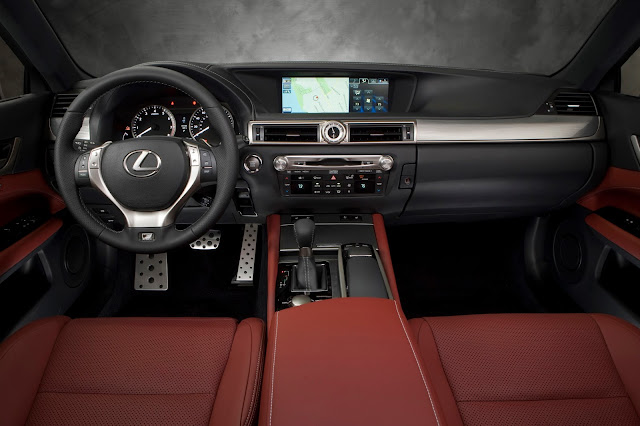 Interior view of the 2015 Lexus GS 350 F SPORT