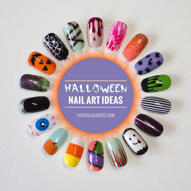 18 Easy Nail Art Ideas for Halloween , The Nailasaurus