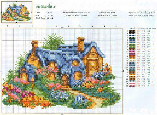 Вышивка крестом дом милый дом схема 98