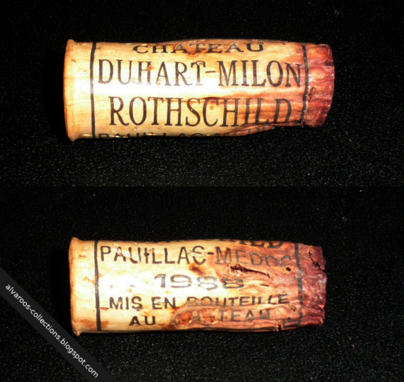 Destroyed wine cork: Chateau Duhart-Milon Rothschild 1988