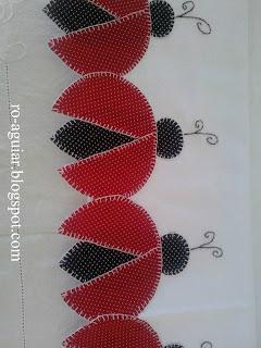 artesanato em patchwork - joaninha
