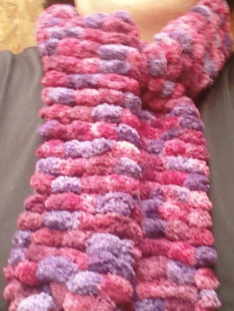 """""""todo en tejidos ,telar y mas """": bufandas en telar redondo"""