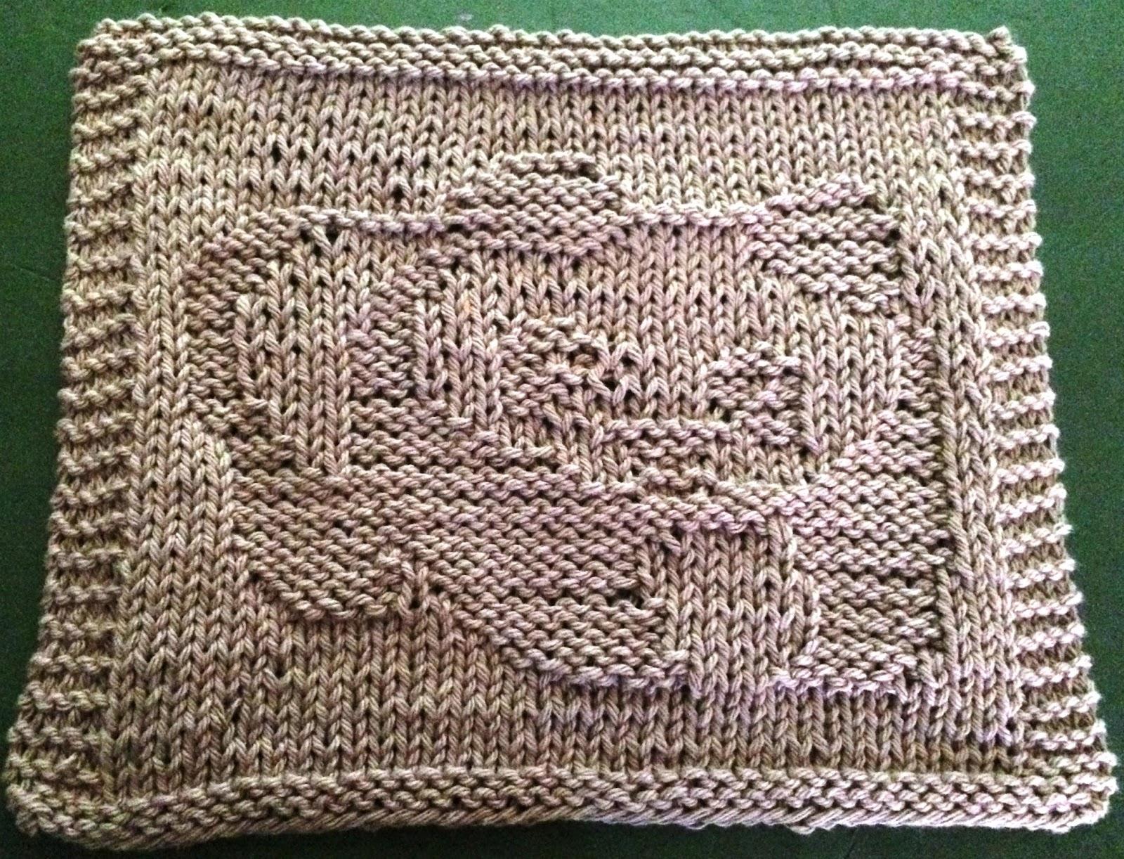 Knitted Teddy Bear Dishcloth Pattern : DigKnitty Designs: Another Panda Bear Knit Dishcloth Pattern