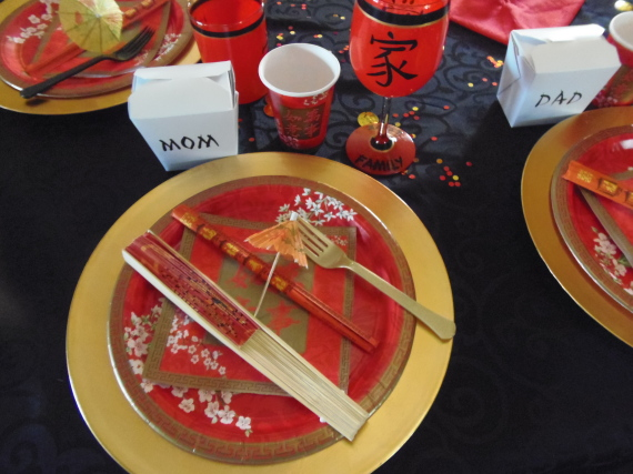 Asian Inspired place setting