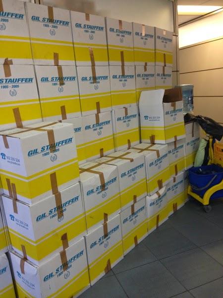 Sup denuncia apilamientos de cajas en jefatura superior de policia canarias
