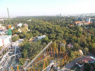 "Panoramic view of Vienna from the """"Wienar Riesenrad(Vienna Ferris Wheel)""."