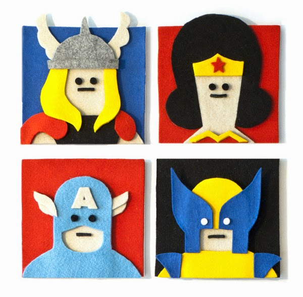 Felt Illustrations by Jacopo Rosati