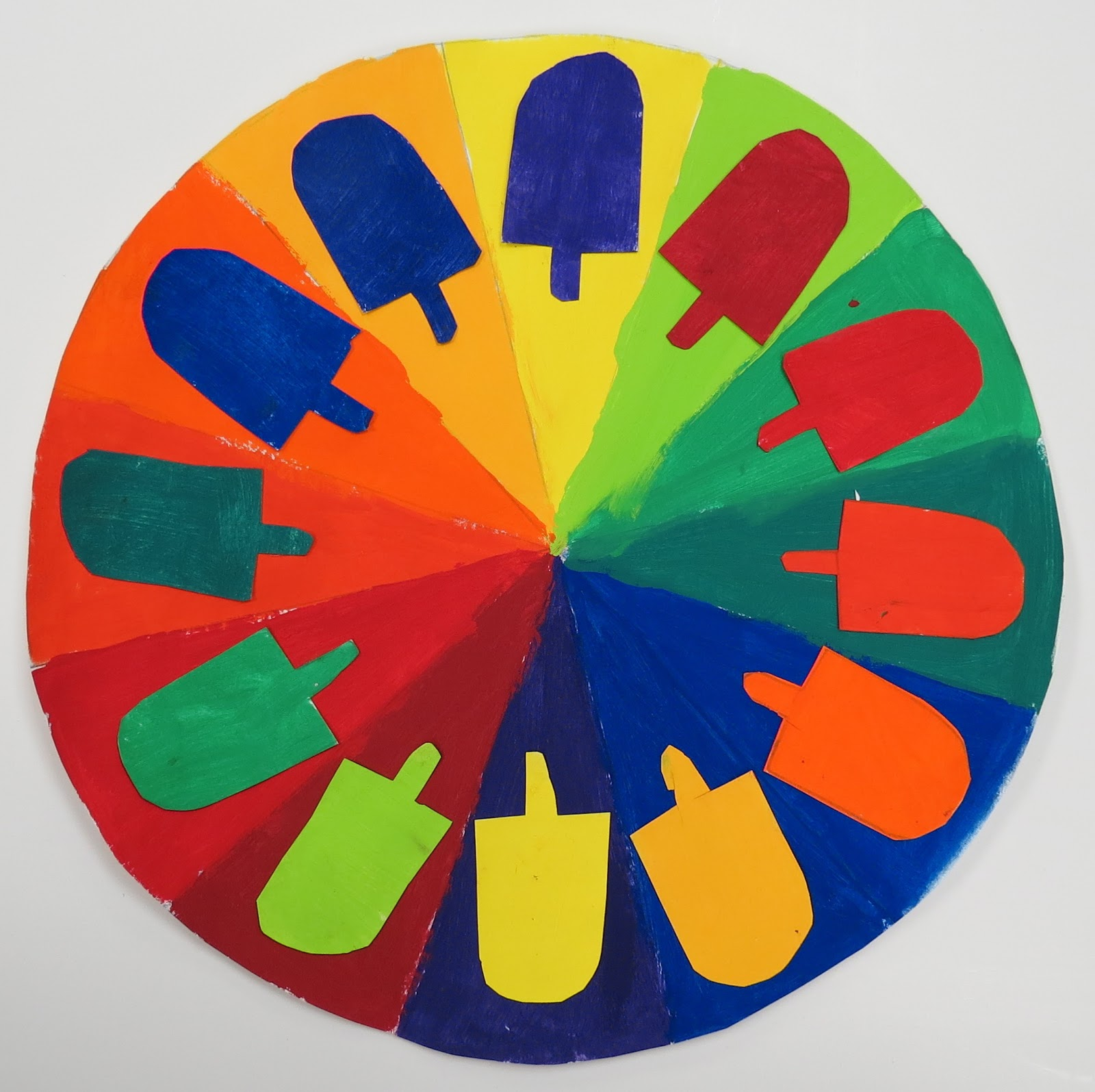 Sinking springs art complementary color wheels 5th for Color wheel schemes