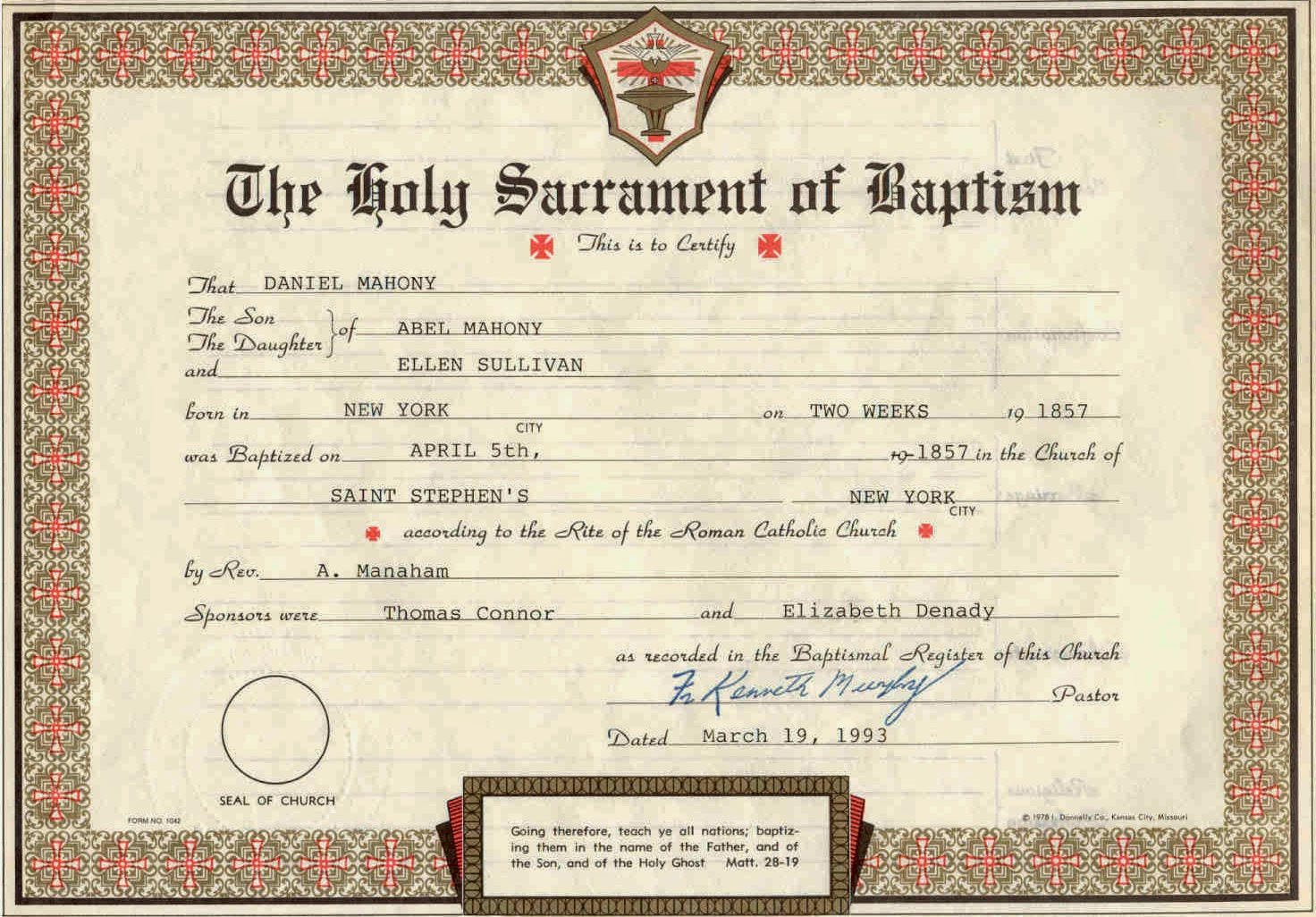 Purposes Of Documents For Church Wedding Part 1 Before The