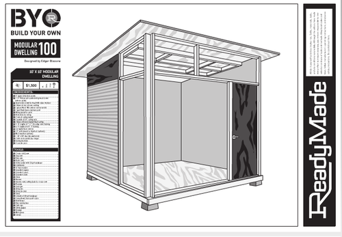Shed plans for the md100 modern shed for Design and build your own shed