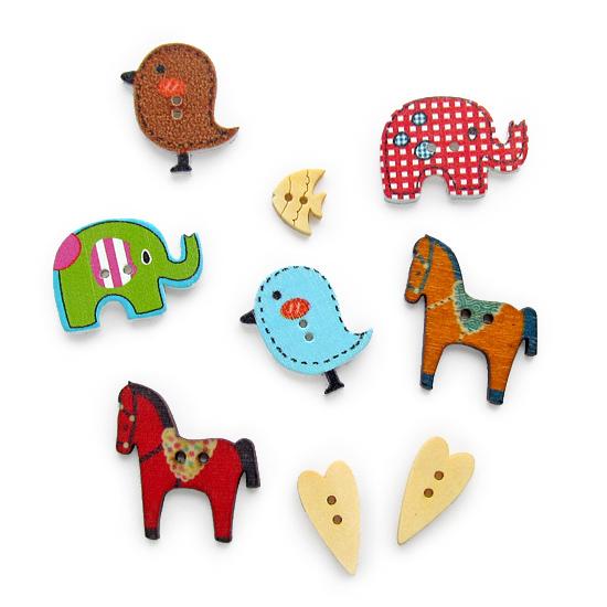 Wooden, buttons, пуговицы